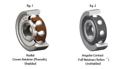 angular contact bearings