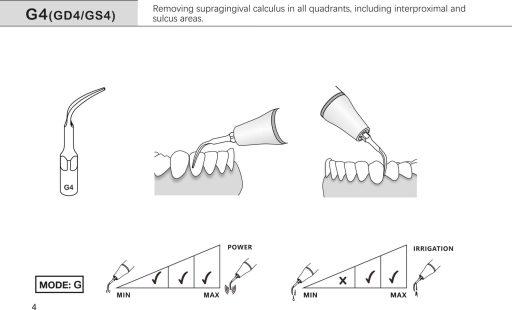 ultrasonic scaling insert g4 ems