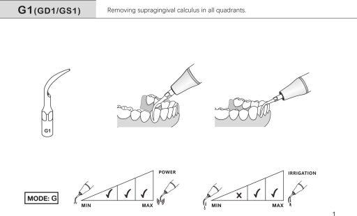 ultrasonic scaling insert g1 ems